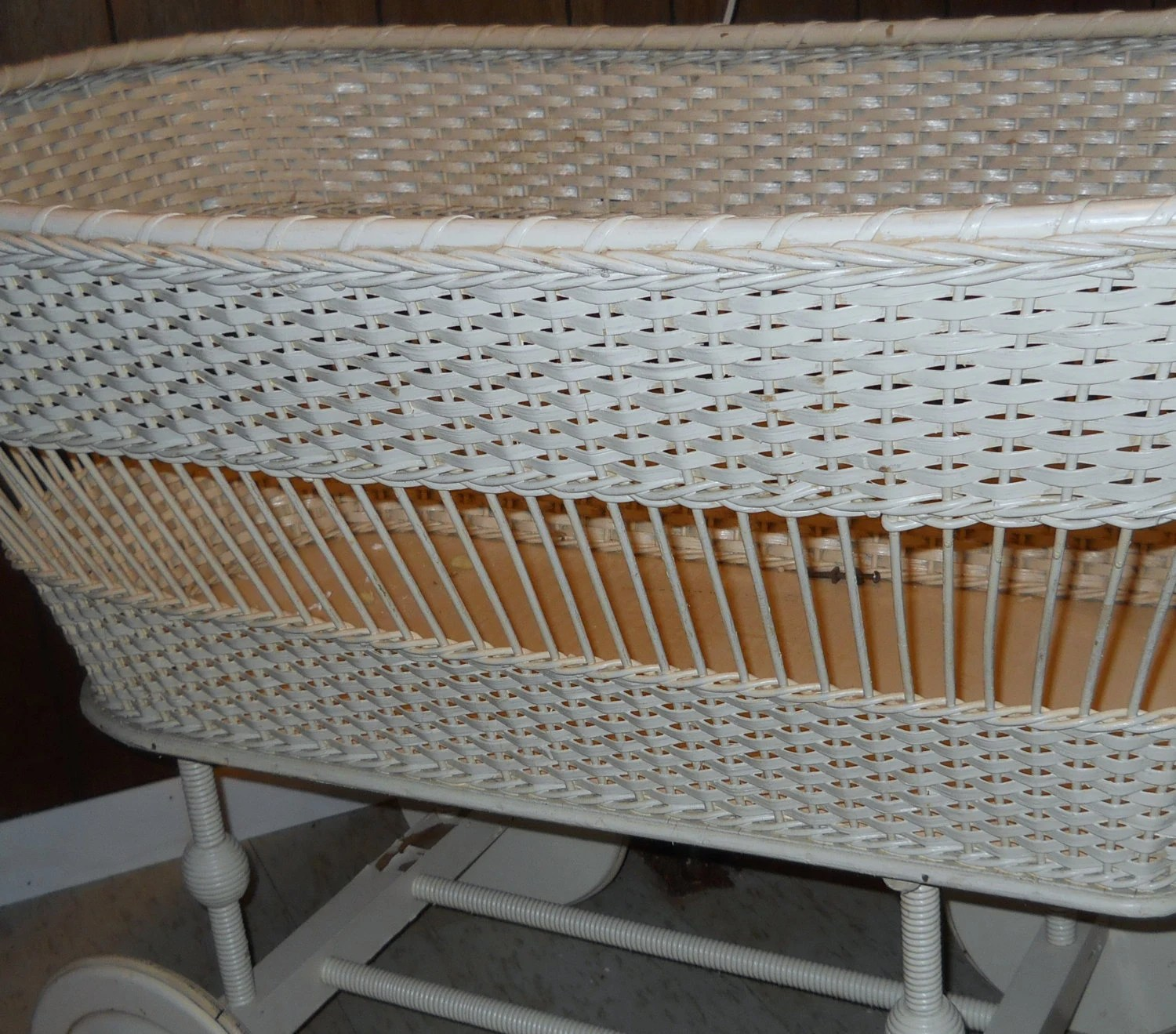fruit basket for kitchen faucets repair sale antique baby bassinet white wicker by glamatiques