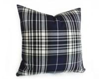 Navy Blue Plaid Pillow Tartan Plaid Pillow Covers Decorative
