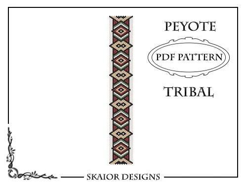 Peyote Bead Pattern Tribal Bracelet Peyote Beading Pattern