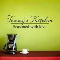 Custom Kitchen Wall Decal Personalized Name Decal Seasoned