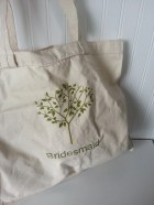 Bridesmaid Canvas Tote Bag- Tree Theme Beige, Linen, Chartreuse Green, Lime, Rustic, Forest, Birch