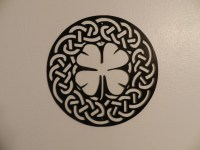 Shamrock Celtic Knot Metal Wall Art