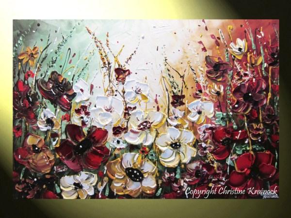 Original Art Abstract Painting Flowers Wildflowers Modern