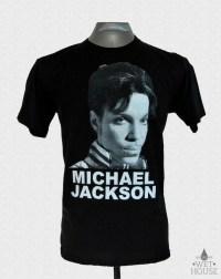 Michael Jackson Prince Face T-Shirt // black shirt white ink