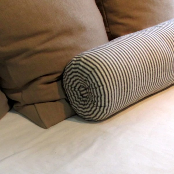 6x16 Bolster Pillow In 100 Cotton Black And White