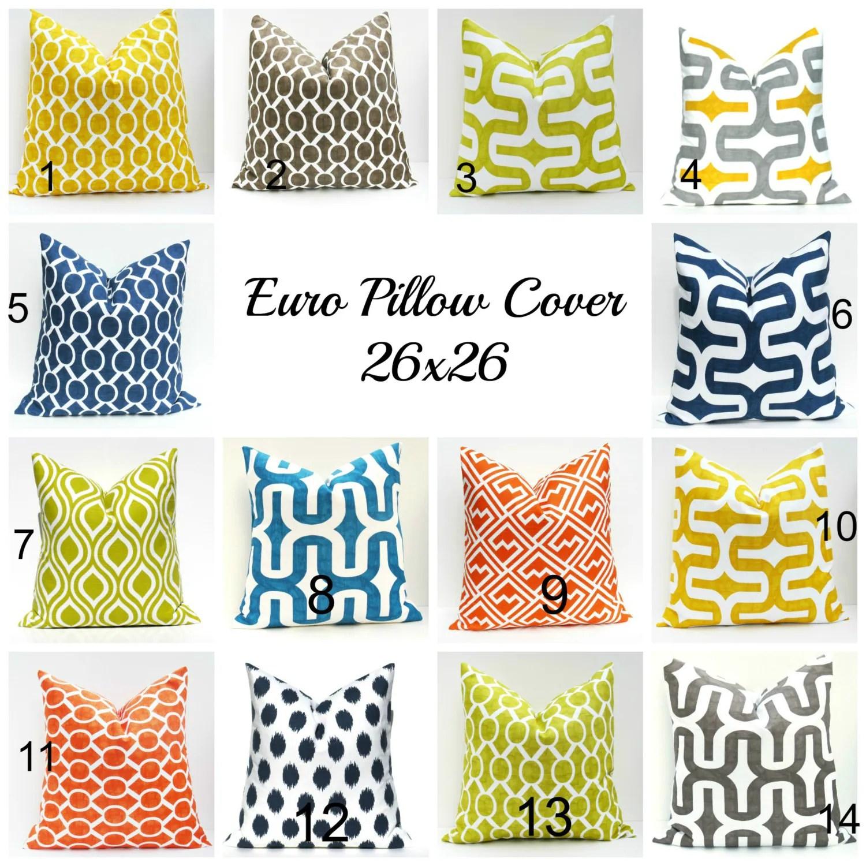 Euro Pillow Sham 26x26 Pillow Covers Floor Pillow by EastAndNest