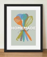 Kitchen Wall Art Mid Century Modern Homemade by ...