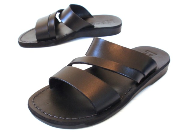 Leather Sandals Greek Men' Shoes Thongs