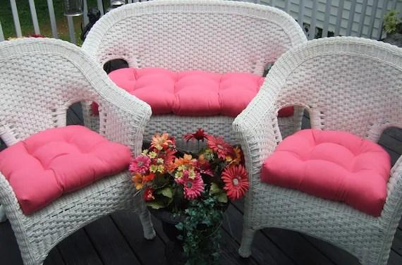 Indoor / Outdoor Wicker Cushion 3 Pc. Set