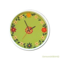 Decorative Kitchen Wall Art Clock Paper Quilling Home