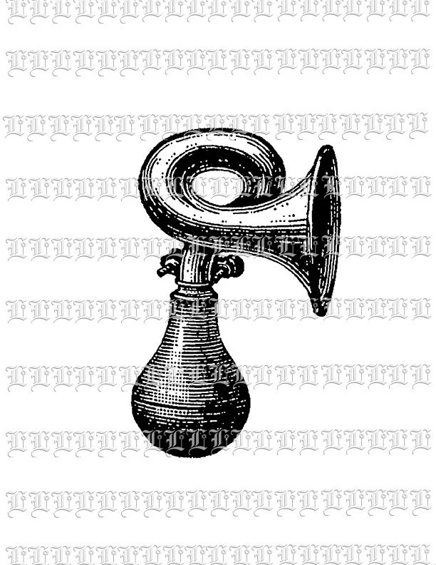Antique Car Bike Horn Graphic Instant Download Printable