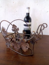 Wire bottle carrier wine bottle holder Vintage French bottle