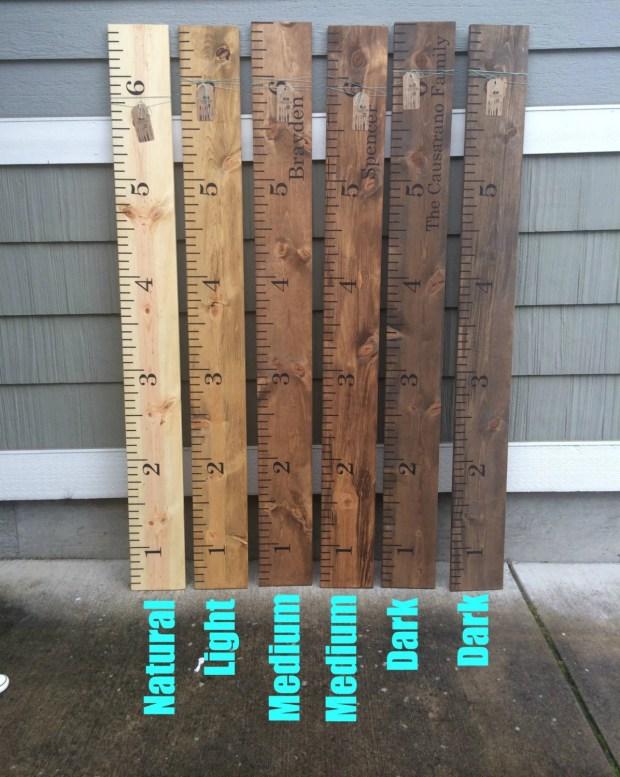 Wooden Ruler Growth Chart Home Design Ideas