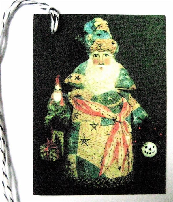 Primitive Folk Art Santaamerican Santa With Gnome