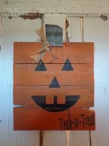 Jack-lantern Pumpkin Pallet Wood Sign Mckennamadeit2013