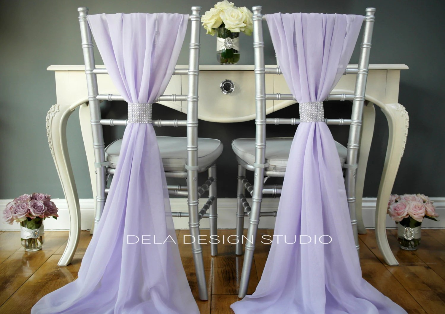 wedding chair covers lilac tufted leather desk chairs chiffon cover sash by