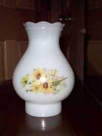 Vintage Milk Glass Replacement Hurricane Lamp Shade or Globe