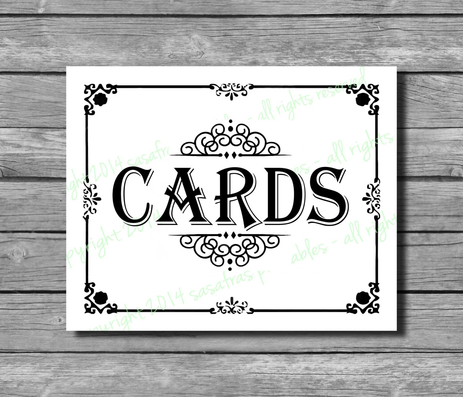Cards Sign For Wedding
