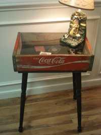 SALE Vintage Coca Cola Crate Shadow Box Table