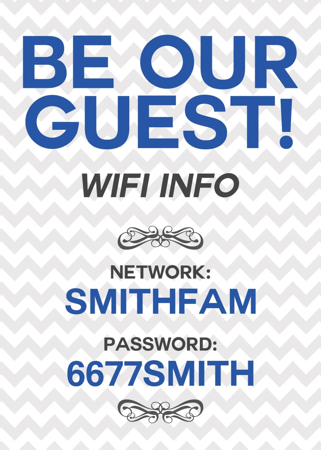 Items similar to Wifi Password Printable Sign  Unique Home Decor Idea Great for Guest Rooms