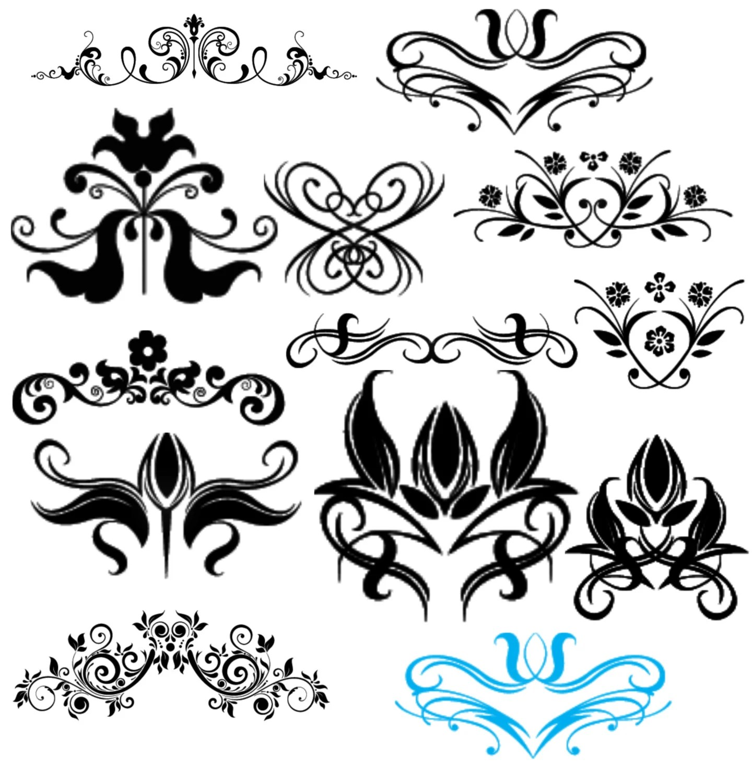 Items Similar To Swirl Digital Clip Art Flourish Instant