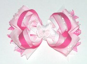 pink boutique hair bow girls fancy