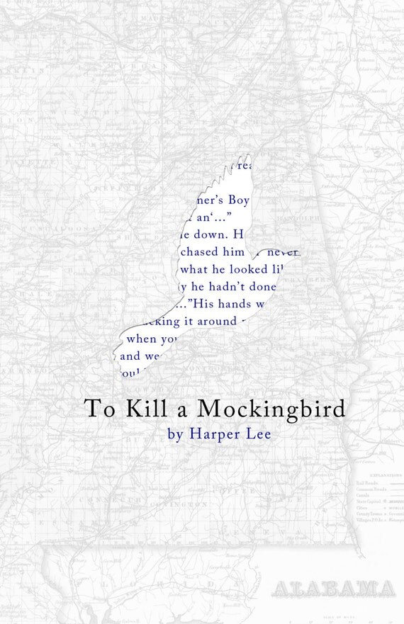 To Kill A Mockingbird Poster Print by bookrapport on Etsy