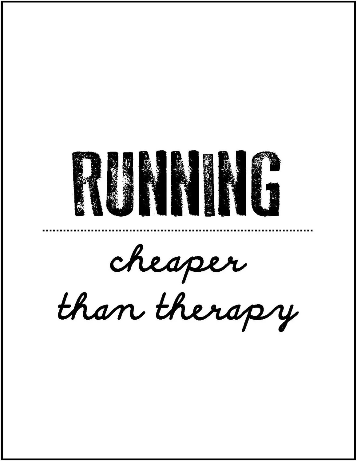 Items similar to Running group motivation quote gift for