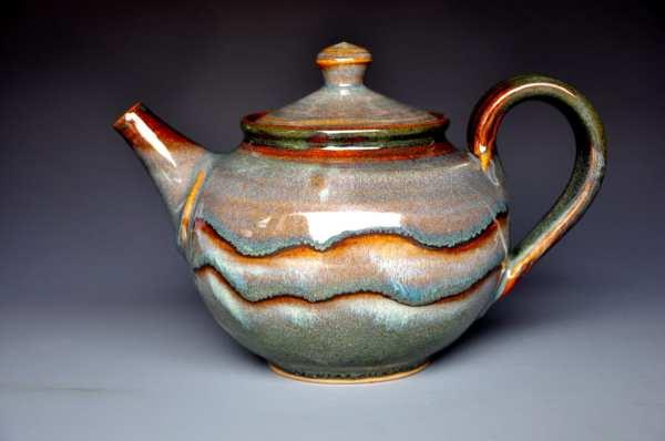 Rose Plum Teapot Handmade Pottery