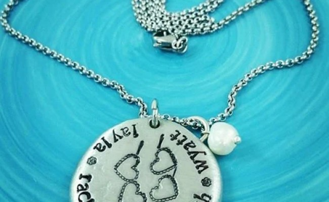 Items Similar To Personalized Mothers Necklace Hand