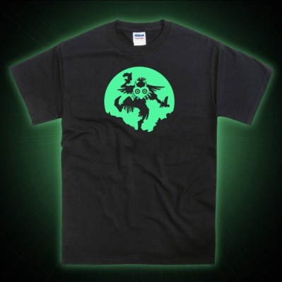 Zelda Majora's Mask Inspired GLOW GEAR Mens Unisex Vinyl T-shirt
