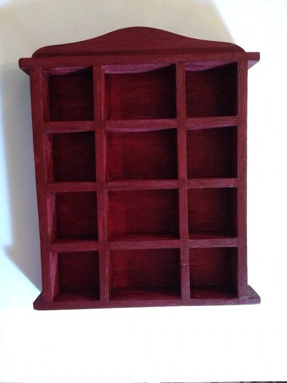 Mahogany Colored Miniature Bookcase