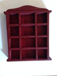 Mahogany Colored Miniature Bookcase
