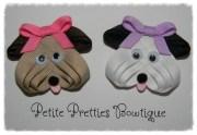 boutique puppy dog ribbon sculpture