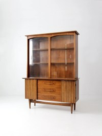 mid century hutch modern walnut china cabinet by 86home on ...