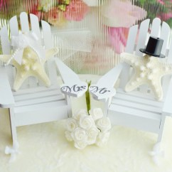 Starfish Wedding Chair Decorations Kitchen Table Chairs For Sale Cake Topper Miniature Adirondack By