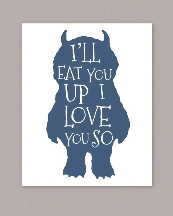 Download PRINTABLE 8x10 poster I'll Eat You Up I Love You