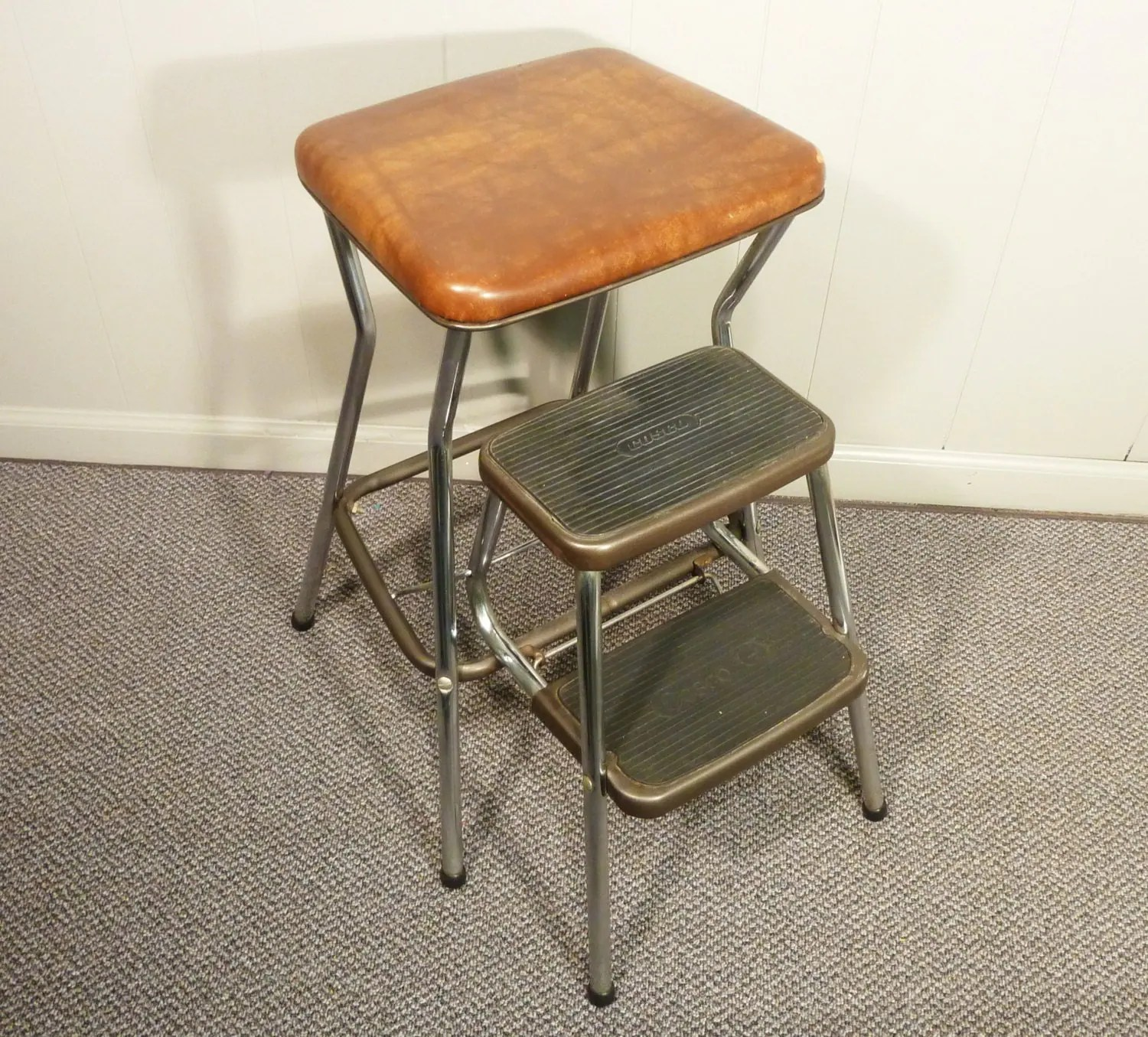 Stool Chair Retro 50s Vintage Step Stool Kitchen Chair Cosco
