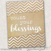 Count Your Blessings Wall Art Quote Printable by parchmentpath
