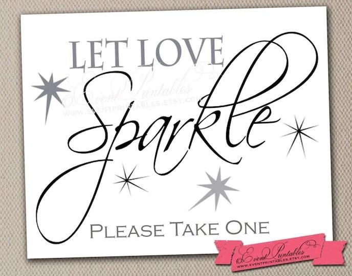 Download Let Love Sparkle Printable Sign 8x10 DIY Wedding Poster