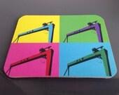 Popart Crane coaster (4 p...
