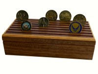 Air Force 24 Challenge Coin Holder w/ Engraving by ...