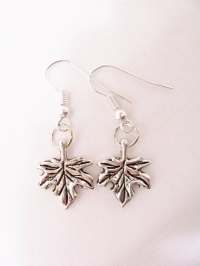 Maple leaf earrings maple leaves Maple leaf charm jewelry