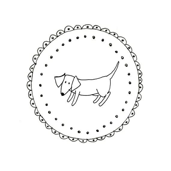 Hand Embroidery Dachshund Dog Wiener Dog Pattern Printable