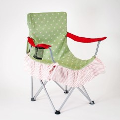 Pink Folding Chair Ikea Outdoor Lounge Preppy Green And Polka Dot Cover For Glamping