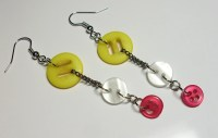 Light and fluffy Sweet and Sassy Dangle Button Earrings Very