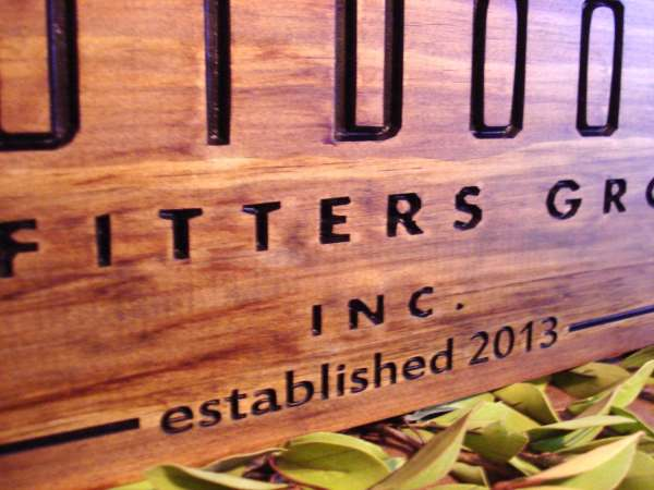 Carved Wooden Sign Craft Show Displays Business Logos