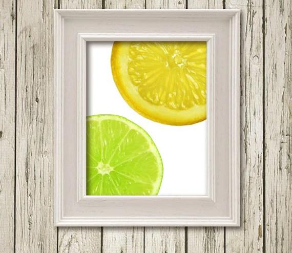 Items Similar Lime Lemon Citrus Kitchen Art Printable Instant