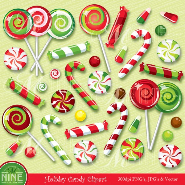 christmas clip art candy