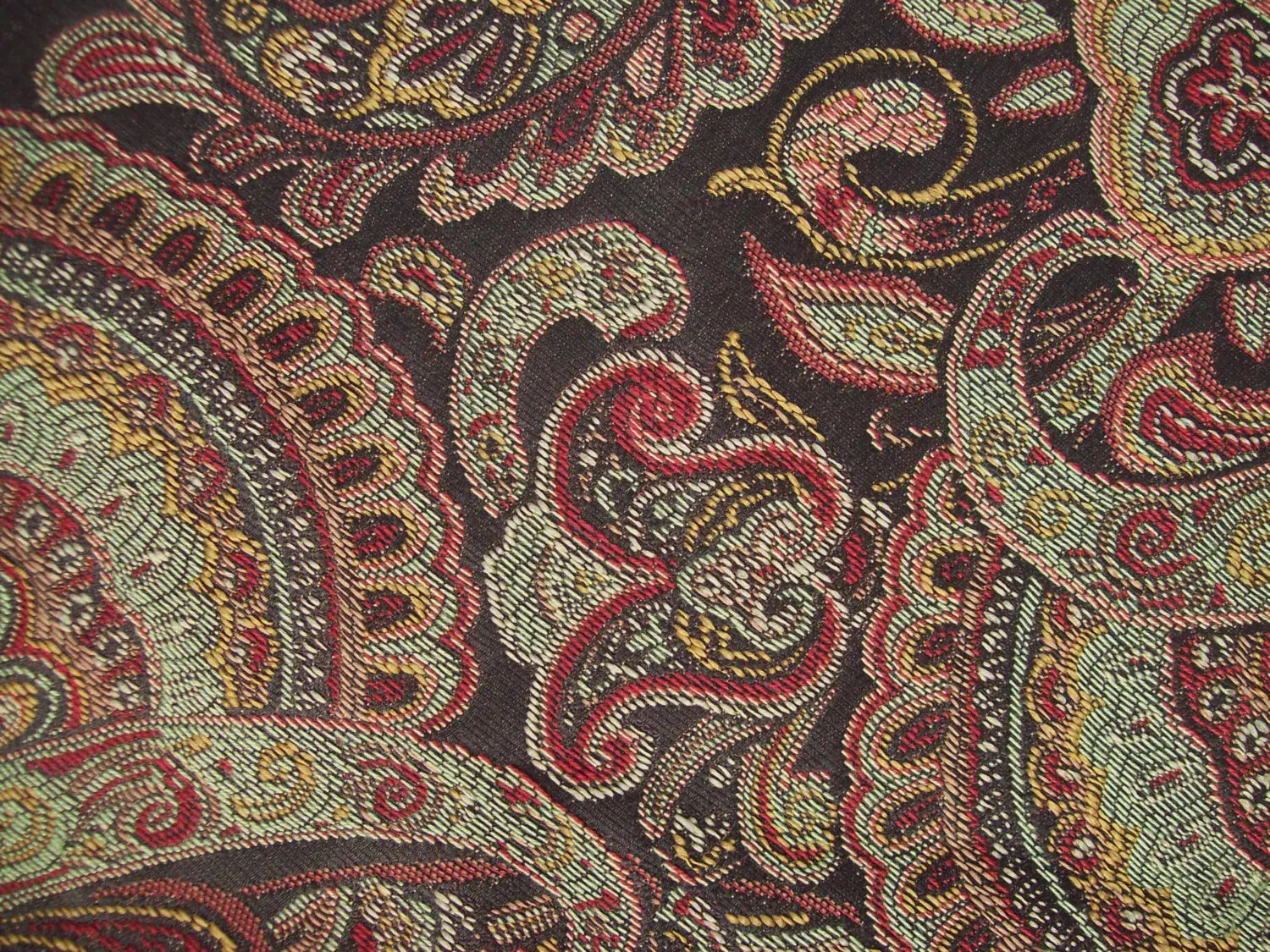 Brown Paisley Fabric Square 26x26